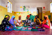 Girls supported with entrepreneurial and skills training as part of our Girls, Lets be leaders project to start their own small businesses selling batik cloth, jewellery and handbags.