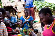 Bead making for cultural tourism as part of our youth Motivations project supporting livelihoods in Karamoja, Uganda.